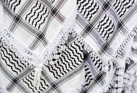 palestinian: Arabic scarf, keffiyeh texture background Stock Photo