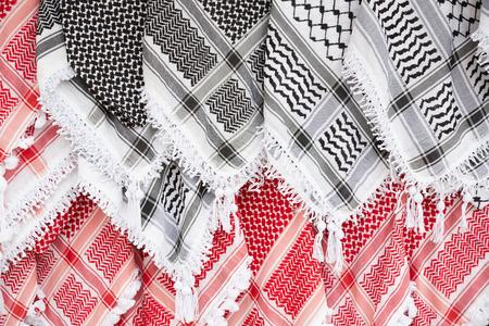keffiyeh: Arabic scarf, keffiyeh texture background Stock Photo