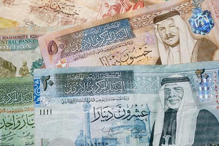 dinar: Jordanian dinar banknotes background Stock Photo