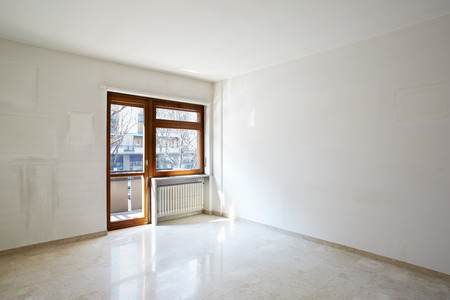 27770817: Empty room with marble floor in normal apartment Stock Photo