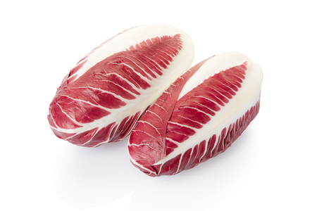 radicchio: Radicchio, red salad heads on white, clipping path