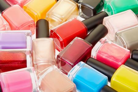 nail polish bottle: Nail polish colorful bottles background