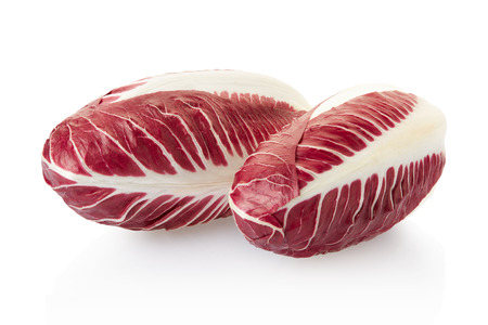 radicchio: Radicchio, red salad on white, clipping path