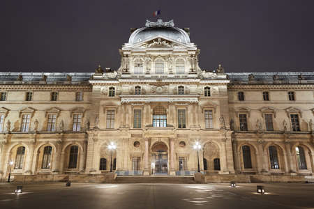 sully: Louvre museum facade in Paris, pavilion Sully