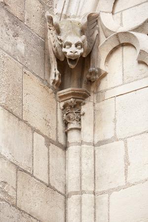 gargoyle: Notre Dame de Paris cathedral gargoyle statue
