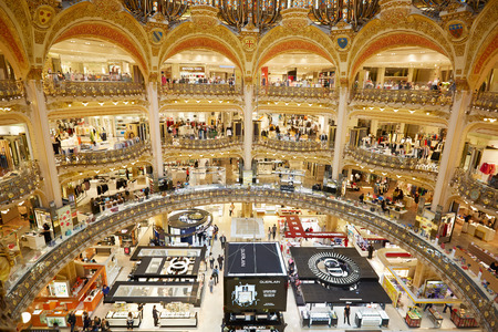 Galeries Lafayette interior in Paris, France