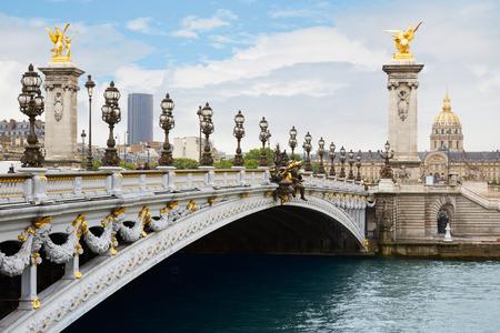 alexander: Alexandre III bridge in Paris in the morning, France