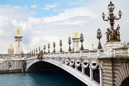 alexander: Pont Alexandre III bridge in Paris, France