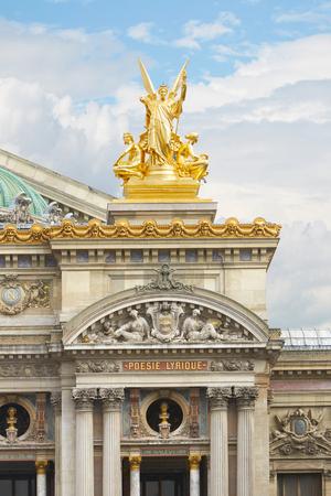 The Opera Garnier golden statue in Paris photo