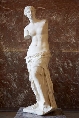 Venus of Milo statue in Louvre museum, Paris