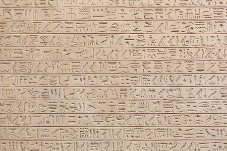 Egyptian hieroglyphics stone background 写真素材