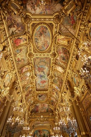 garnier: Opera Garnier interior in Paris, France