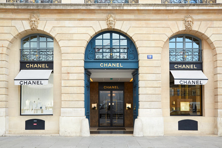 Chanel winkel in plaats Vendome in Parijs