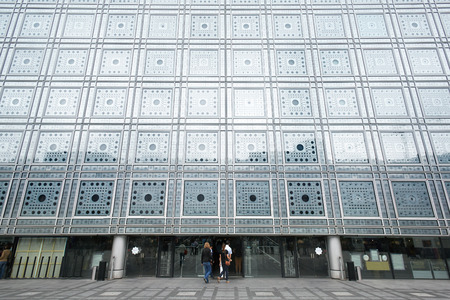 arabe: Instituto del Mundo Árabe en París edificio de Jean Nouvel Editorial