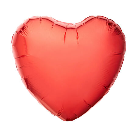 heart balloon: Red heart balloon isolated on white, clipping path Stock Photo