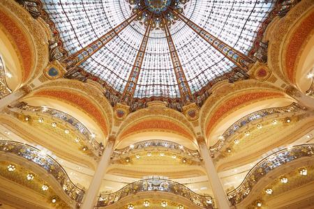 Galeries Lafayette dome, interior in Paris