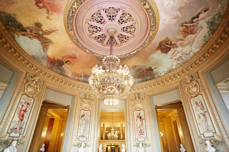 Opera Garnier interior in Paris, France
