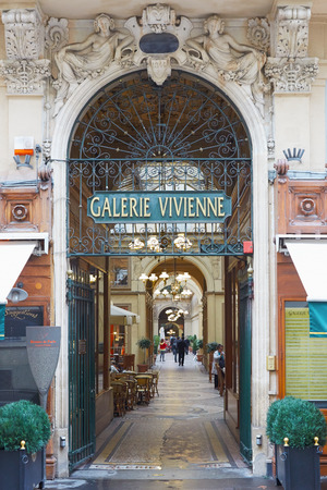 passages: Paris, Galerie Vivienne entrance. These typical passages were built during the first half of the XIXth century.