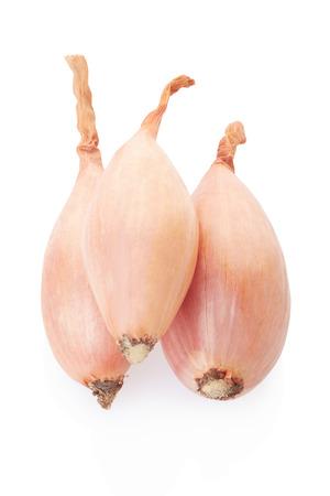 shallot: Shallot onions group on white