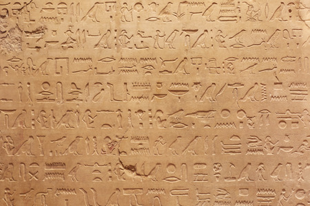hieroglyphs: Egyptian hieroglyphics stone background Stock Photo