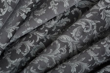 Damask, wavy black tapestry pattern background photo