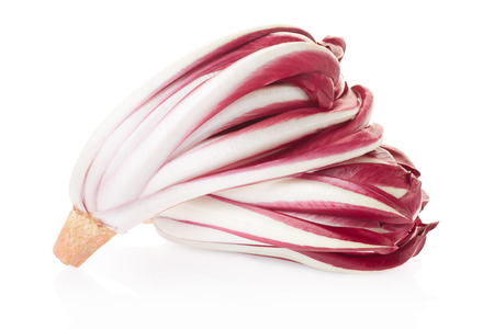 radicchio: Radicchio, red chicory on white. Stock Photo