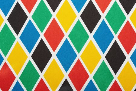 harlequin: Harlequin colorful diamond pattern, texture background