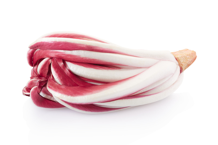 radicchio: Radicchio, red chicory isolated on white, clipping path