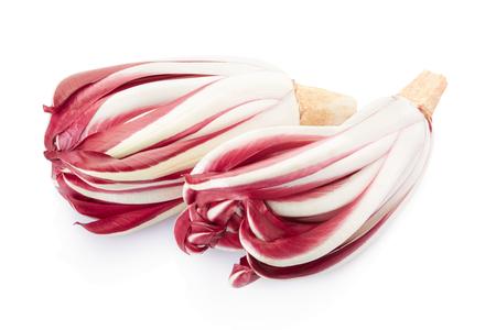 Radicchio, rode Treviso witlof op wit, het knippen weg