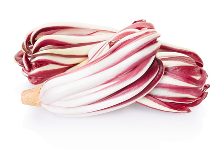Radicchio, red salad group on white, clipping path photo