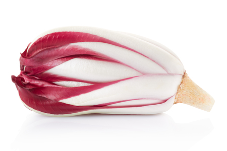 radicchio: Radicchio, red Treviso salad on white, clipping path Stock Photo
