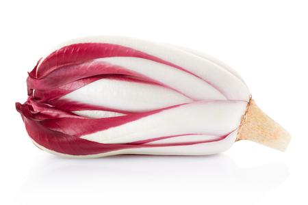 radicchio: Radicchio, red Treviso salad on white, clipping path Stock Photo