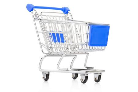 shopping cart icon: Shopping cart on white Stock Photo