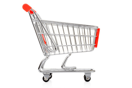 Shopping cart isolated on white, clipping path