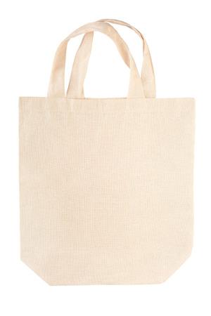 布キャンバス バッグ白クリッピング パスの分離