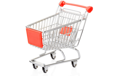 shopping cart isolated: Shopping cart isolated on white, clipping path included