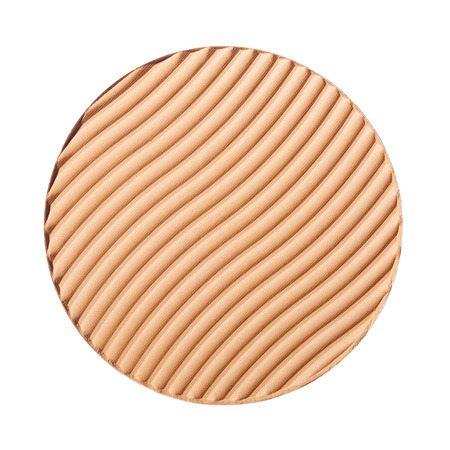 cosmetic product: Brown blush isolated on white with clipping path