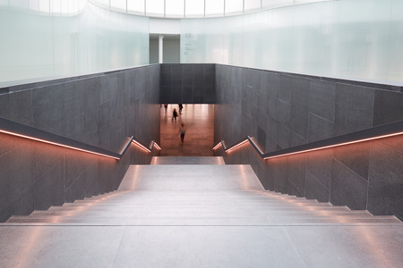 ethnographic: Museo delle Culture, ethnographic museum staircase in Milan. Editorial