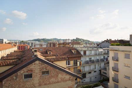 piedmont: Alba roof tops of the city in Piedmont, Italy Stock Photo