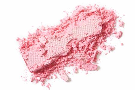 Roze oogschaduw verpletterde make-up op wit Stockfoto