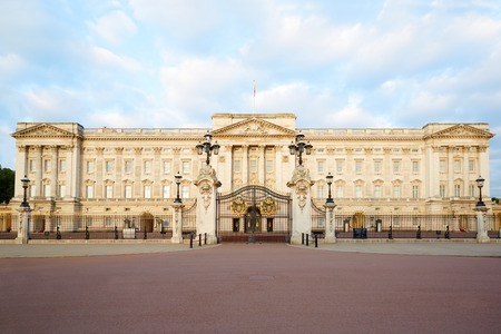 Buckingham palace in the early morning light in London