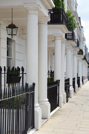 edwardian: White edwardian houses in West London