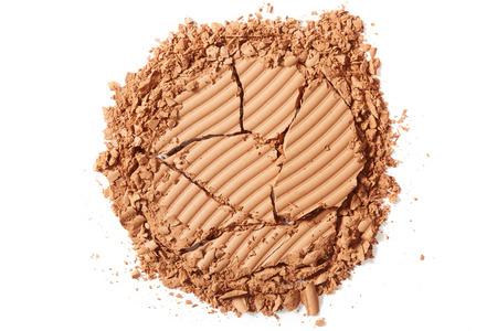 blush: Brown blush crushed on white background Stock Photo