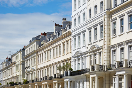 White houses in London, english architecture