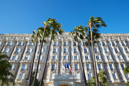intercontinental: Cannes, luxury hotel InterContinental Carlton on La Croisette boulevard