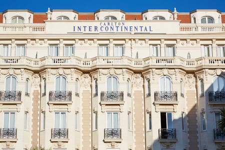 intercontinental: Luxury hotel InterContinental Carlton, located on the famous La Croisette boulevard in Cannes Editorial