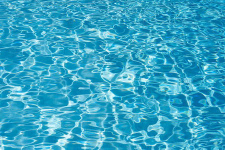 Blue pool water texture background