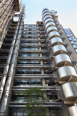 lloyd's of london: Lloyds skyscraper in the City, financial district in London Editorial