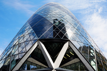 30 st mary axe: 30 St Mary Axe building or Gherkin in the morning in London
