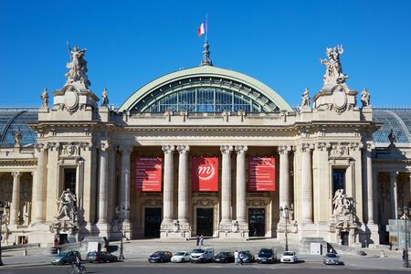 palais: Grand Palais palace in a sunny day, blue sky in Paris